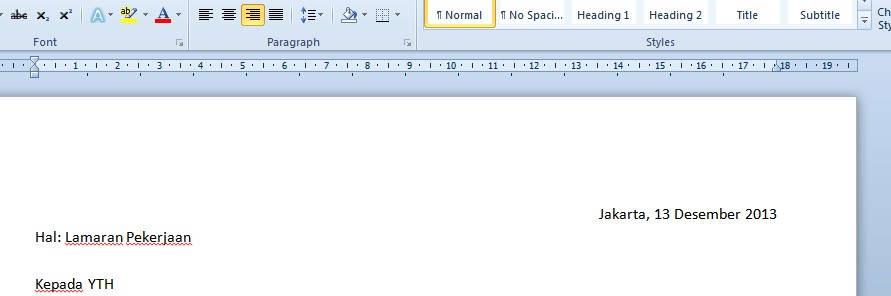 Kesalahan menuliskan surat lamaran pekerjaan