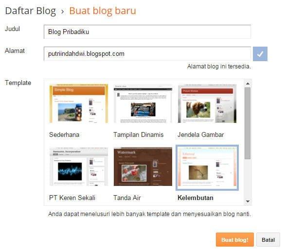 gambar 4 - cara membuat blogspot