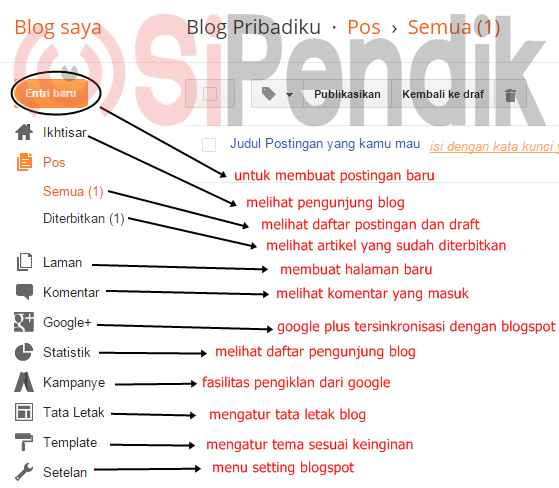 gambar 8 -  cara membuat blog di blogger